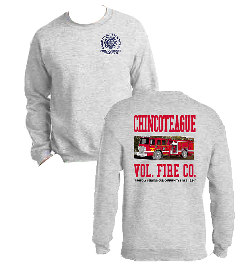 Gray crew-neck sweatshirt